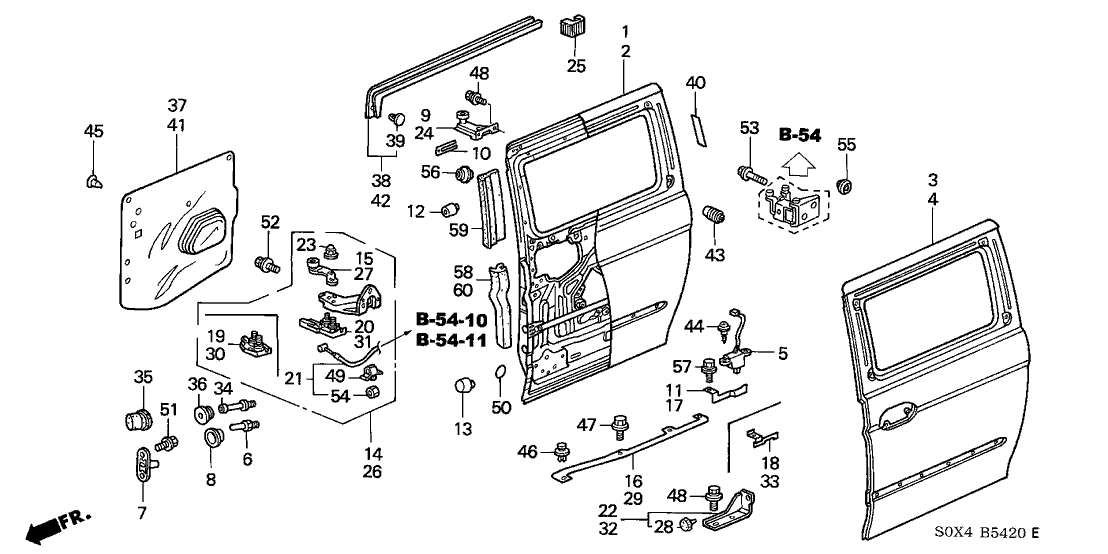 72030-S0X-A51 - Genuine Honda Switch Assy., Slide Door Close inside 2002 Honda Odyssey Parts Diagram