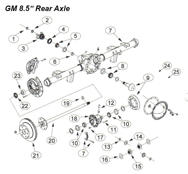 8.5 Inch Chevrolet Gmc Ring Pinion Rebuild Parts Pickup, Cars, Suv regarding Gm Parts Diagrams Exploded Views