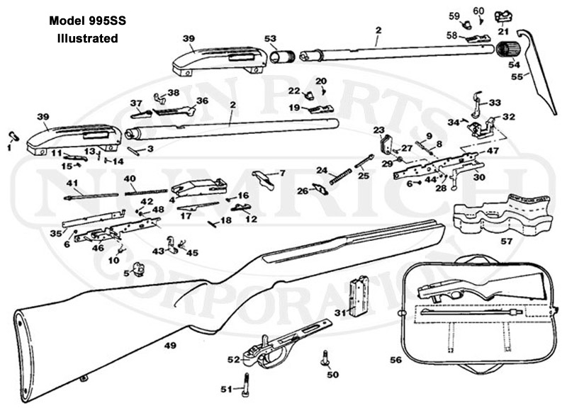 995Ss Schematic | Numrich regarding Marlin Model 60 Parts Diagram