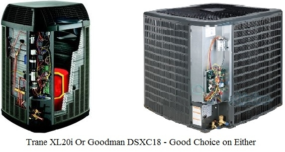 A Fair Heat Pump Comparison Of Trane Vs Goodman within Trane Heat Pump Parts Diagram
