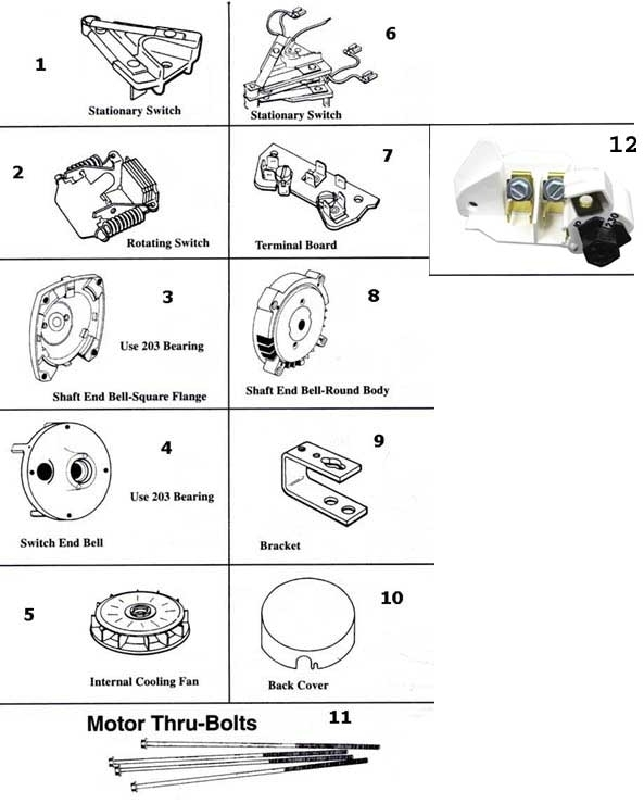 A.o. Smith A.o. Smith Motor Parts Replacement Part Schematic for Ao Smith Motor Parts Diagram