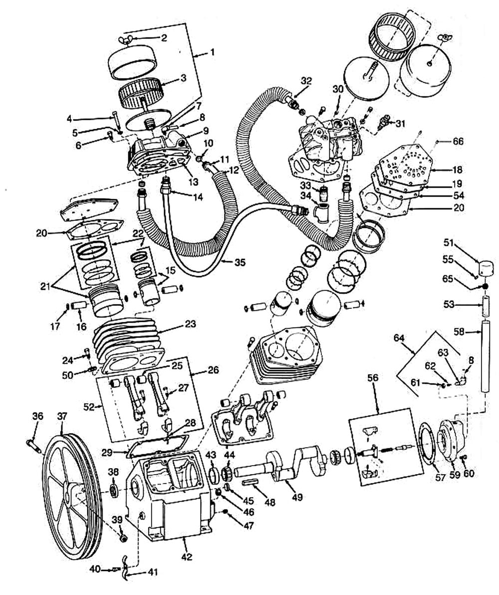 Air Compressor Motor Wiring Diagram - Golkit intended for Ingersoll Rand Air Compressor Parts Diagram