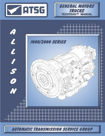 Allison Transmission 1000 with Allison Transmission Parts Diagram Manual