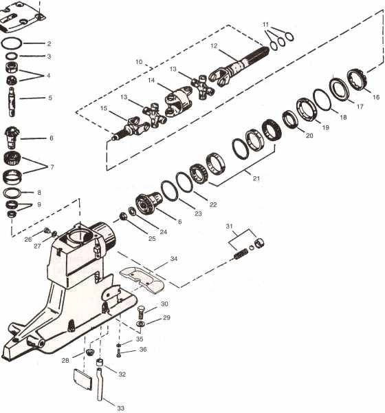 Alpha 1 & Gen. 2 Outdrive Parts *drawings *videos for Alpha One Sterndrive Parts Diagram