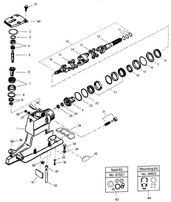 Alpha One Upper Unit Parts Diagram inside Alpha One Mercruiser Parts Diagram