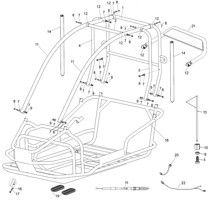 American Sportworks 3170 Go Kart Parts in Manco Go Kart Parts Diagram