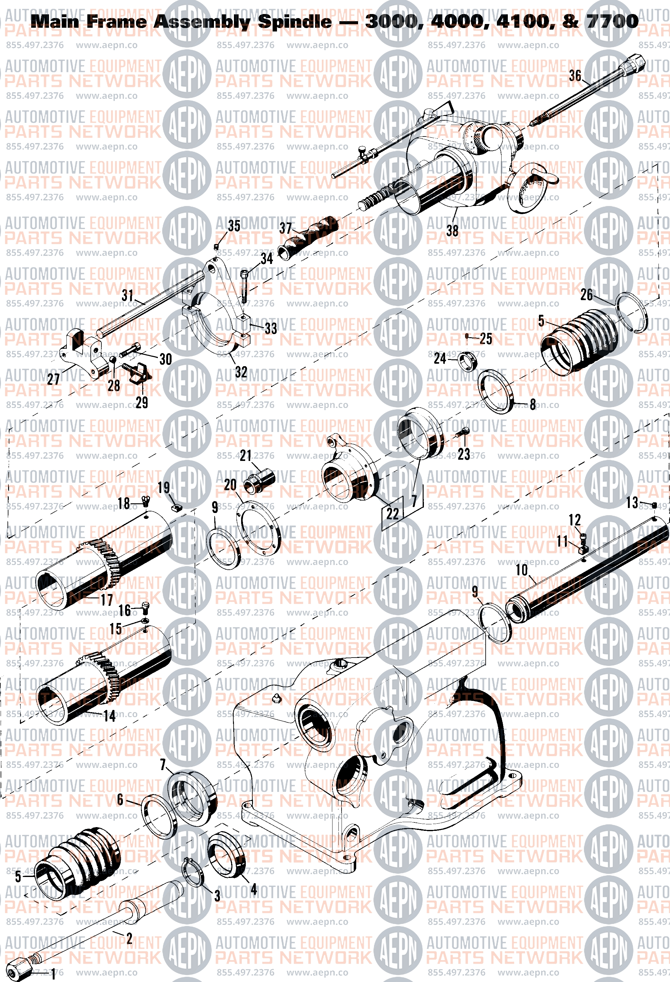 Ammco 3000, 4000, 4100, 7500, 7700 Drum And Disc Brake Lathe Parts regarding Ammco 4000 Brake Lathe Parts Diagram