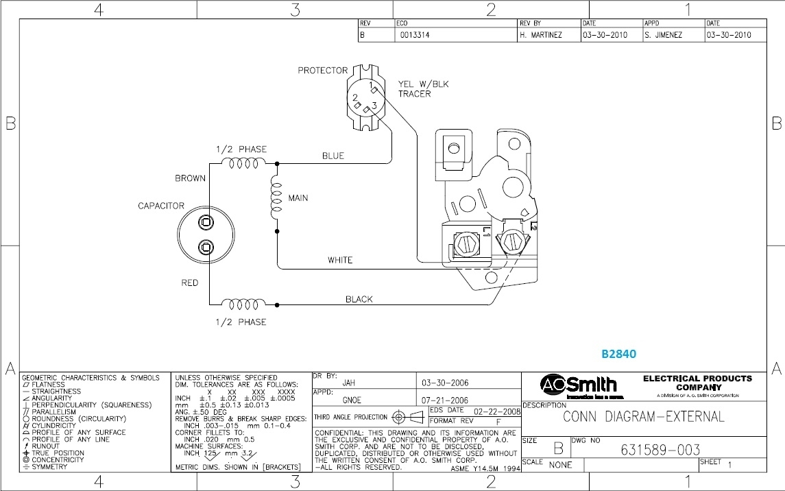 Ao Smith Motor Wiring Diagram - Linafe inside Ao Smith Pool Pump Motor Parts Diagram