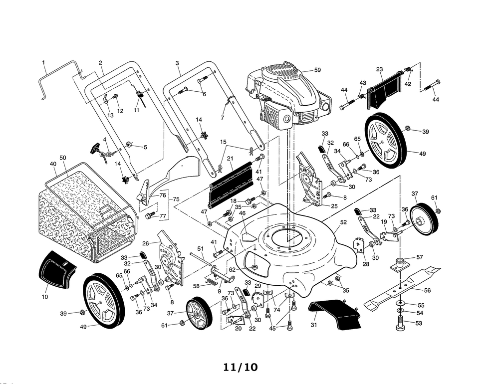 Ariens Lawn Mower Parts | Model A149K2196136000601 | Sears Partsdirect regarding Ariens Lawn Mower Parts Diagram