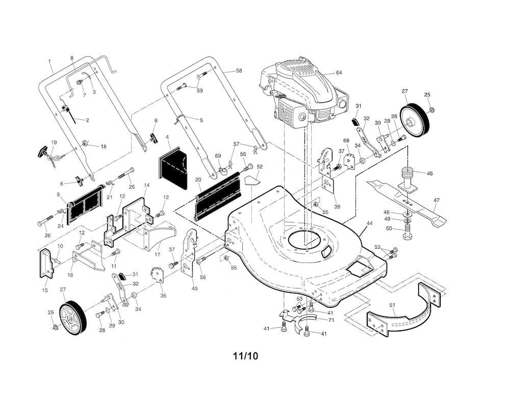 Ariens Lawn Mower Parts | Model A173K2296146000300 | Sears Partsdirect within Ariens Lawn Mower Parts Diagram
