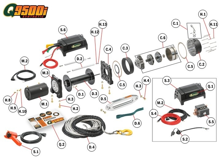 Atv Winch Switch Wiring Diagram Atv Winch Switch Wiring Diagram with regard to Warn Winch 2500 Parts Diagram