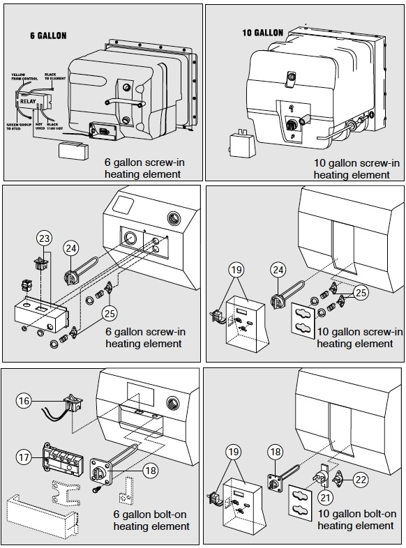 Atwood Water Heater Troubleshooting within Atwood Water Heater Parts Diagram