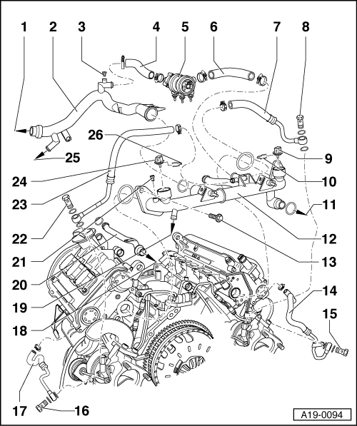 Audi A4 Engine Parts Diagram