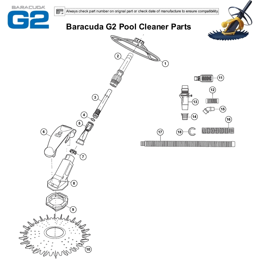 Baracuda G2 Parts Diagram | Baracuda G2 Pool Cleaner inside Baracuda Pool Cleaner Parts Diagram