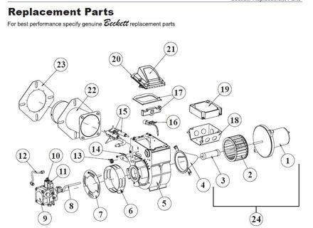 Beckett Afg Oil Burner Parts Diagram, Beckett, Free Engine throughout Beckett Oil Burner Parts Diagram