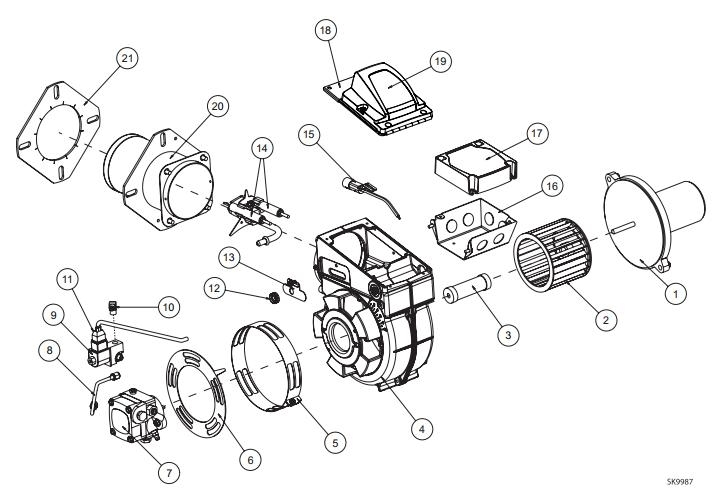 Beckett Burner Model Sdc 24V with Beckett Oil Burner Parts Diagram