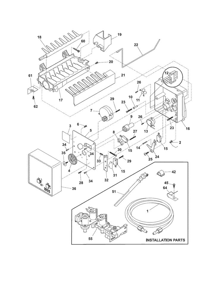 Frigidaire Gallery Refrigerator Parts Diagram