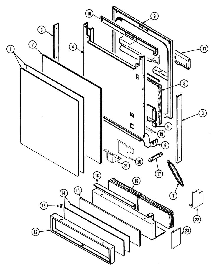 jenn air dishwasher parts diagram