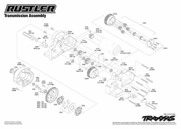 traxxas stampede 4x4 parts diagram