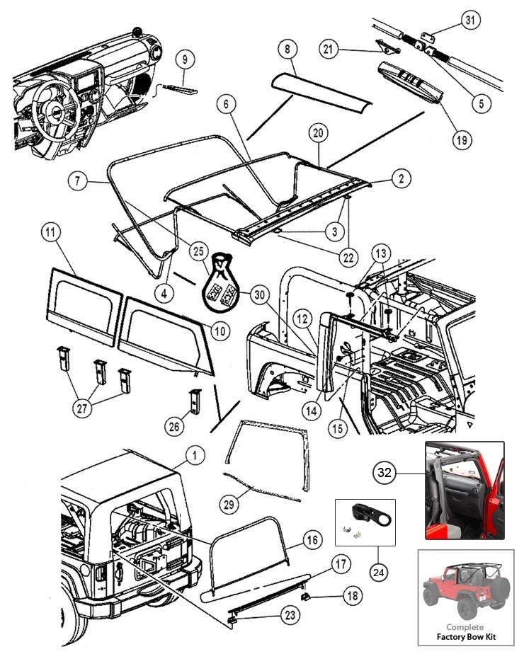 2007 Jeep Wrangler Parts Diagram | Automotive Parts ...
