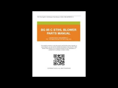 Bg 85 C Stihl Blower Parts Manual - Youtube pertaining to Stihl Bg 85 Parts Diagram