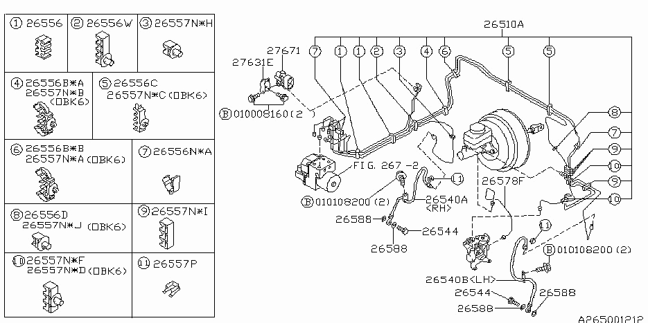 Brake Piping For 2001 Subaru Outback | Subaru Parts Deal throughout 2000 Subaru Outback Parts Diagram