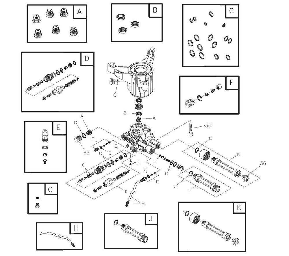 Briggs And Stratton 020290-0 Pumps intended for Briggs And Stratton Pressure Washer Parts Diagram