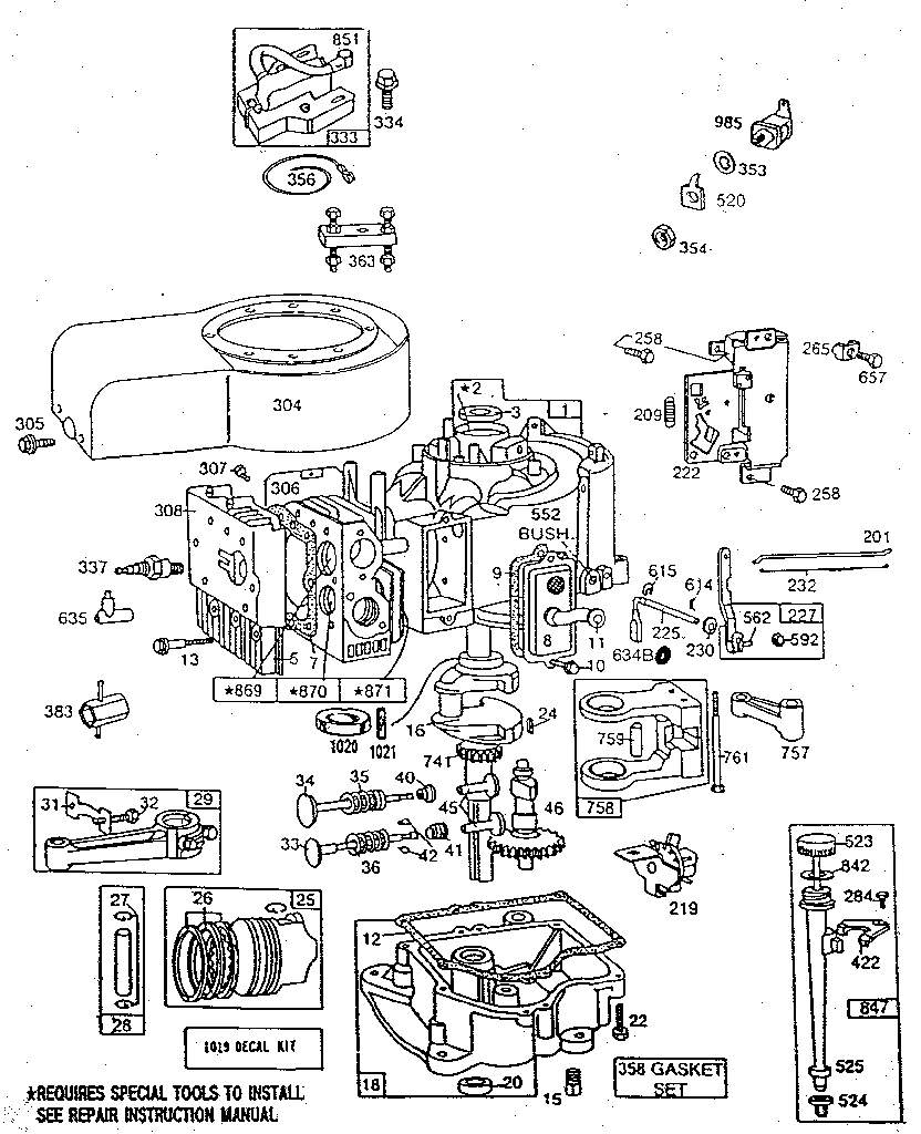 Diagram  3hp Briggs Stratton Lawn Mower Carburetor