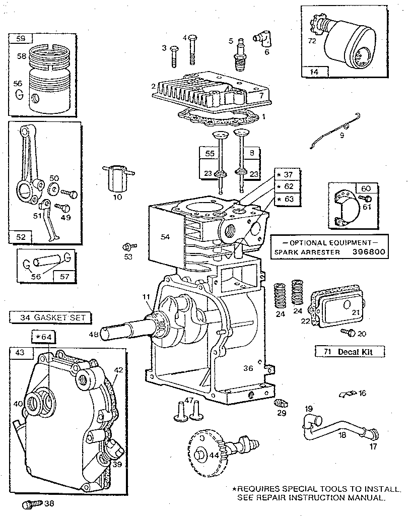 briggs & stratton 3 h.p. tiller-engine parts | model ... 3 hp briggs and stratton engine diagram