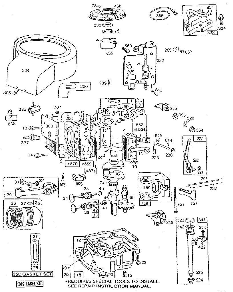 Briggs & Stratton Briggs & Stratton Engine Parts | Model inside Briggs And Stratton Engine Parts Diagram