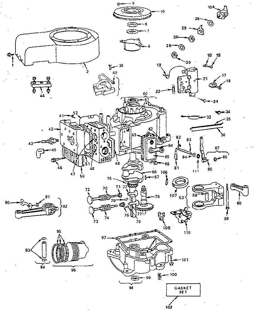 Briggs And Stratton Ohv Engine Parts Diagrams Wiring