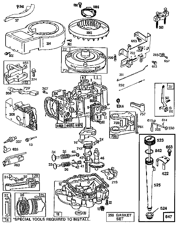 Briggs & Stratton Engine Parts | Model 286707044101 | Sears pertaining to Briggs And Stratton Parts Diagram