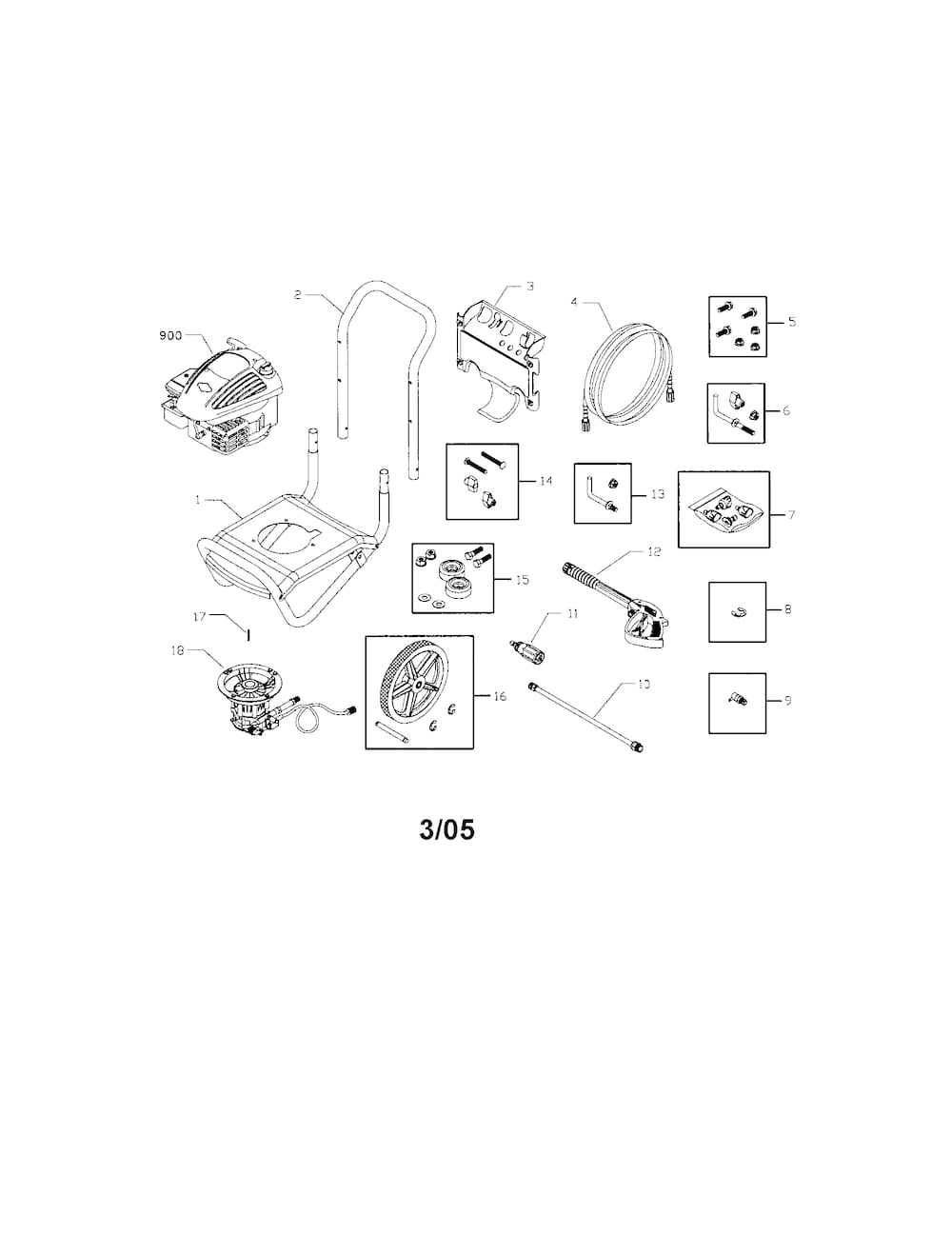 Briggs & Stratton Pressure Washer Parts | Model 020228 | Sears throughout Briggs And Stratton 500 Series Parts Diagram