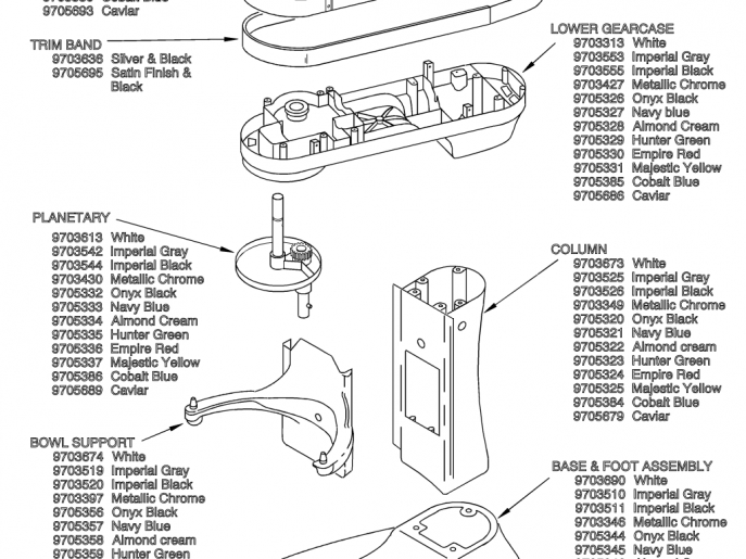 Brilliant Kitchenaid Stand Mixer Parts Diagram Commercial 6 Qt 7 8 pertaining to Kitchenaid Stand Mixer Parts Diagram