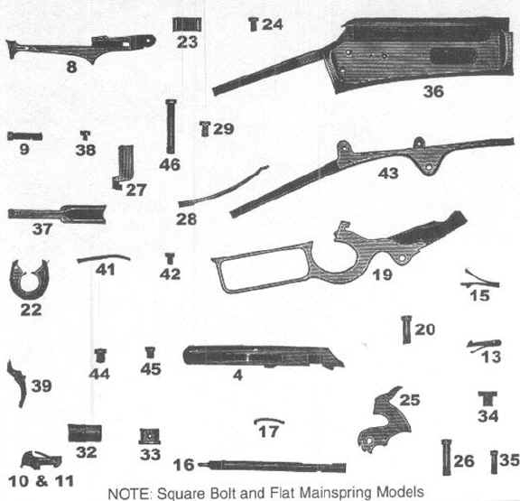 Broken 1893 - Marlin Firearms Collectors Association intended for Marlin 30 30 Parts Diagram
