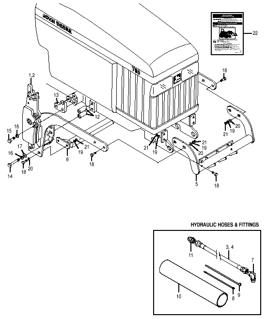 Bush Hog M146Midmountloader Parts M146Midmountloader Mounting for John Deere 790 Parts Diagram