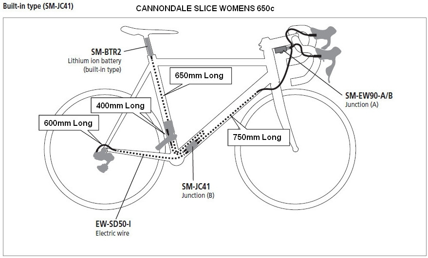 Cannondale Slice Upgrade: Shimano Di2 Parts List for Shimano Ultegra Shifter Parts Diagram