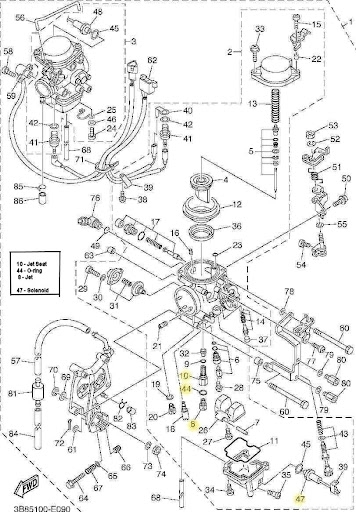 Carb And Intake - V-Star 1100 Wiki Knowledge Base with V Star 1100 Parts Diagram