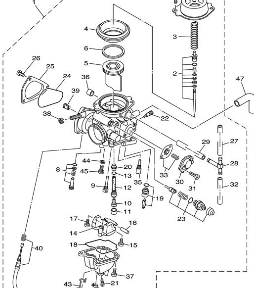 Carb Help Yamaha Grizzly Atv Forum In Yamaha Raptor 660 Parts Diagram on yamaha motorcycle schematics