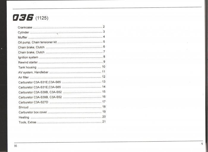 Chain Saw Parts List Stihl 036 with 036 Stihl Chainsaw Parts Diagram