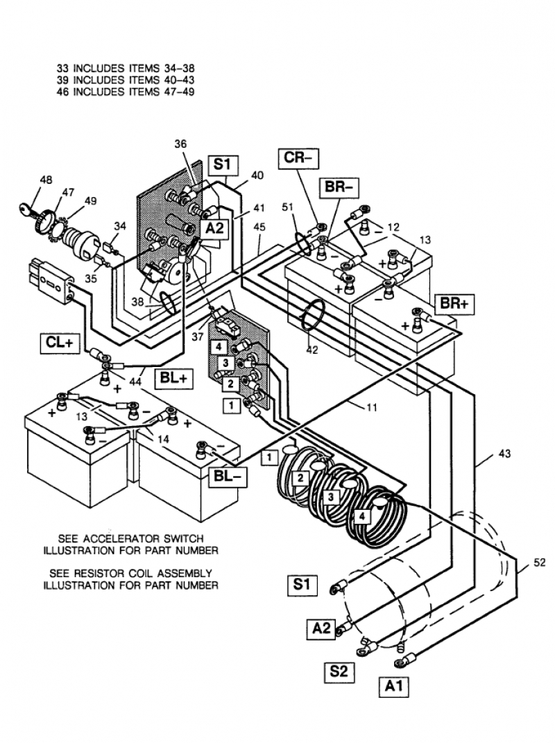 club car wiring diagram 36 volt for basic ezgo electric ... 36 volt ezgo wiring diagram 2006 #1