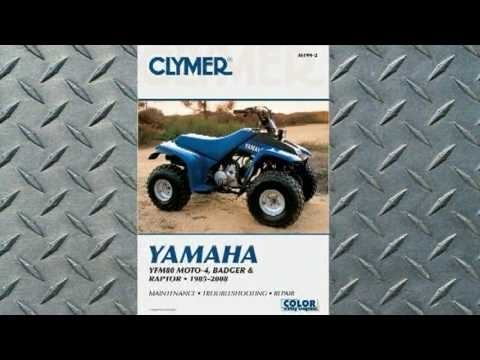 Clymer Manuals Yamaha Yfm80 Moto-4, Badger And Raptor 1985-2008 inside Yamaha Moto 4 Parts Diagram