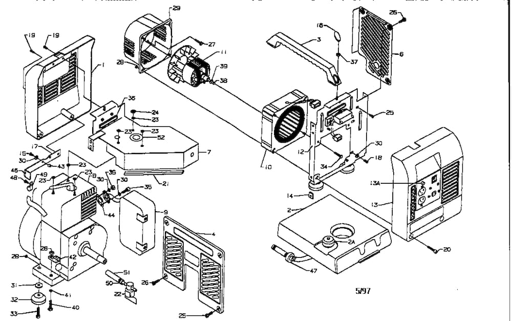 Coleman Coleman Powermate Generator Parts | Model Pm0401805 within Coleman Powermate 5000 Parts Diagram