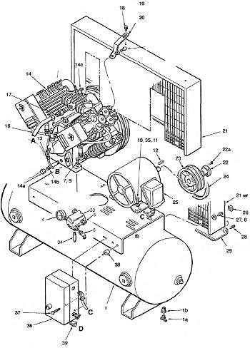 460 3 Phase Motor Wiring likewise C bell Hausfeld Air  pressor additionally Ingersoll Rand 2475 Parts also Quincy  pressor Wiring Diagram also Ingersoll Rand T30 Wiring Diagram. on wiring diagram for quincy air compressor