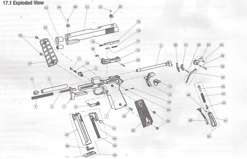 Colt Government 1911 .22Lr -Umarex Usa throughout Sig Sauer 1911 Parts Diagram