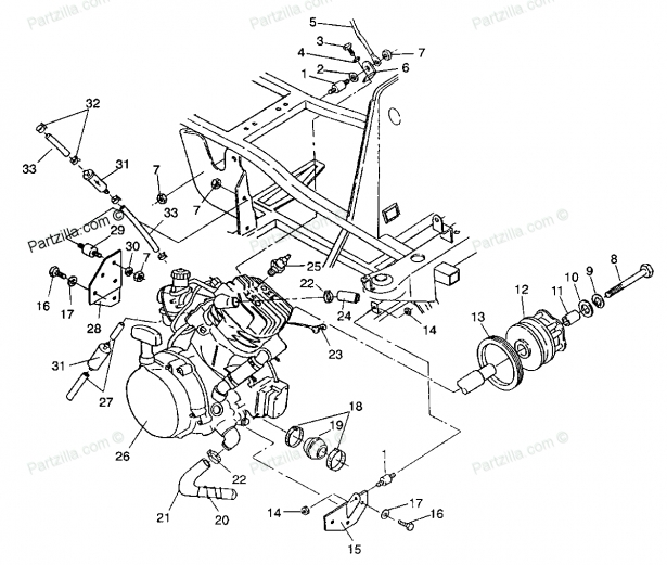 Component. Diagram Of Snowmobile Engine: Arctic Cat Snowmobile for Arctic Cat Snowmobile Parts Diagram
