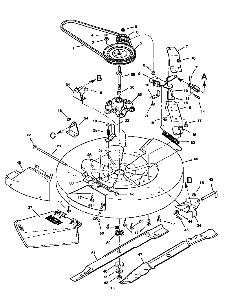 "Craftsman 10 Hp 30"" Mower/mulcher Parts 