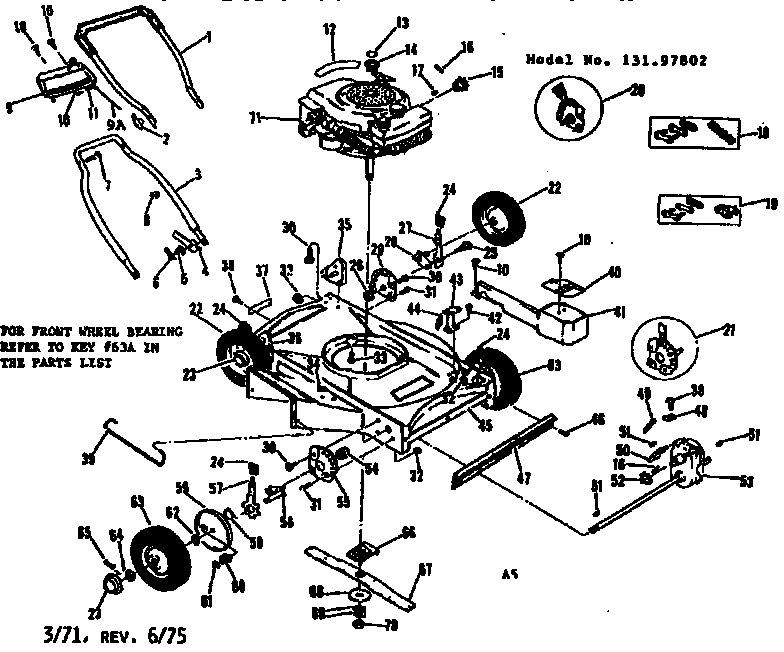Craftsman Craftsman 22 In. Self-Propelled Lawn Mower Parts | Model for Sears Lawn Mower Parts Diagram