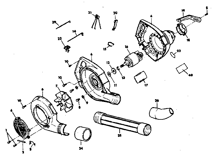 craftsman leaf blower parts diagram automotive parts Blower Motor Switch Wiring Air Conditioner Wiring Diagrams