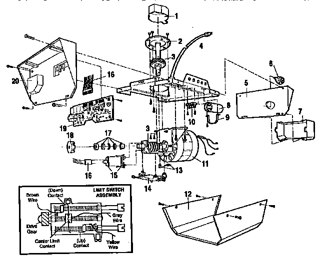 garage door opener parts diagram